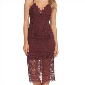 NWOT BarDot Burgundy Versailles Lace Dress